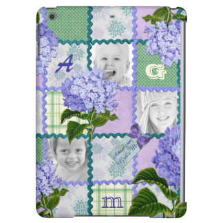 Vintage Purple Hydrangea Instagram Photo Quilt Cover For iPad Air