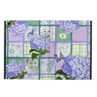 Vintage Purple Hydrangea Instagram Photo Quilt iPad Air Cover
