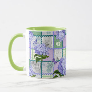 Vintage Purple Hydrangea Instagram Photo Quilt Mug