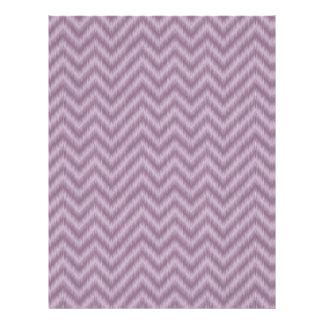 Vintage Purple Lilac Ikat Chevron Zigzag Flyer