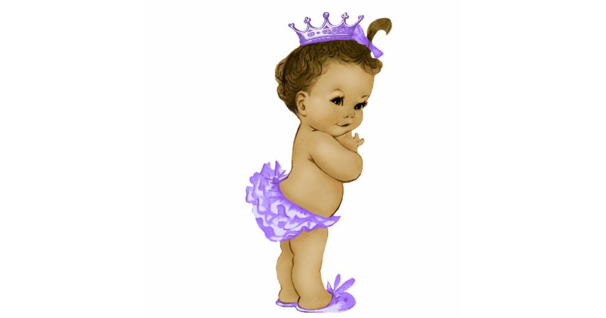 Vintage Purple Princess Baby Girl Shower Standing Photo Sculpture Zazzle Com Au
