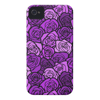 Vintage purple roses BlackBerry Bold Case