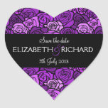 Vintage purple roses 'Save the Date' Sticker