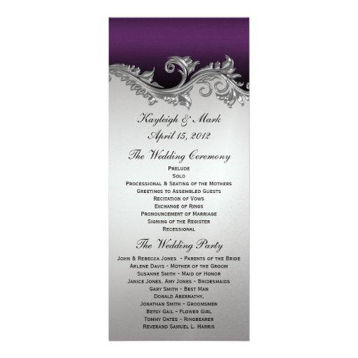 Purple And Silver Vintage Invitations 303 Purple And Silver Vintage Invites Amp Announcements