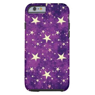 Vintage Purple Stars Tough iPhone 6 Case
