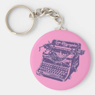 Vintage Purple Typewriter Key Ring