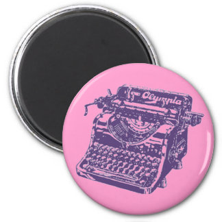 Vintage Purple Typewriter Magnet