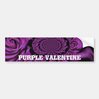Vintage Purple Valentine's Day Bumper Sticker Car Bumper Sticker