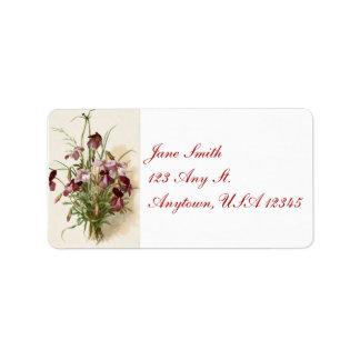 Vintage Purple Wildflowers Address Labels