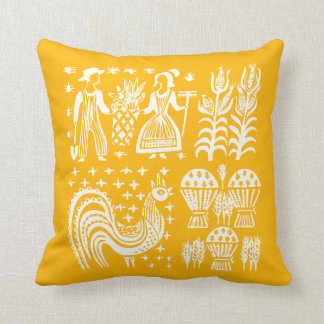 Vintage Pyrex Pattern - Butterprint Orange Cushion