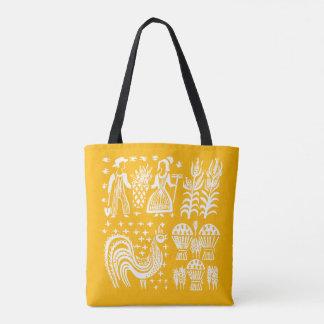 Vintage Pyrex Pattern - Butterprint Orange Tote Bag