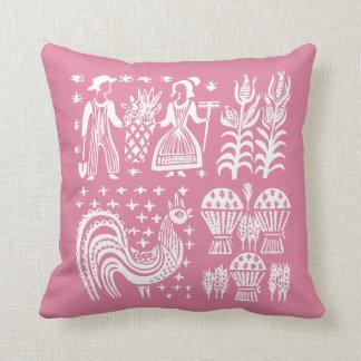 Vintage Pyrex Pattern - Butterprint Pink Cushion