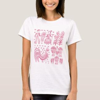 Vintage Pyrex Pattern - Butterprint Pink T-Shirt