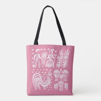 Vintage Pyrex Pattern - Butterprint Pink Tote Bag