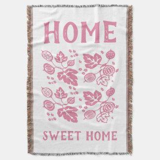Vintage Pyrex Pattern - Gooseberry (Pink) Throw Blanket
