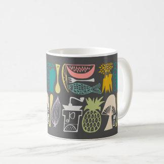 Vintage Pyrex Pattern - Mod Kitchen (1950s Colors) Coffee Mug