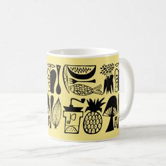 Vintage Pyrex Pattern - Mod Kitchen (Black) Coffee Mug
