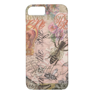 Vintage Queen Bee Beautiful Girly Collage iPhone 7 Case