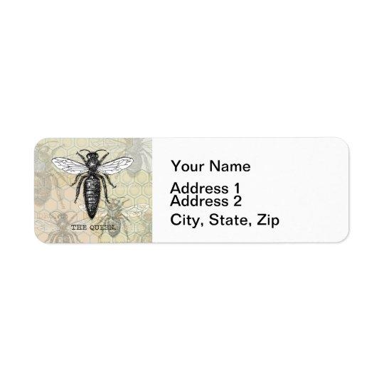 Vintage Queen Bee Illustration Return Address Label