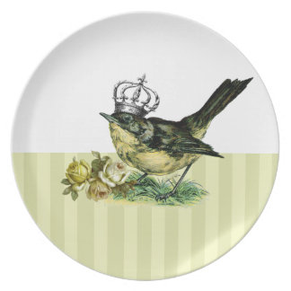 Vintage Queen Bird Valentine s Day Gift Plate