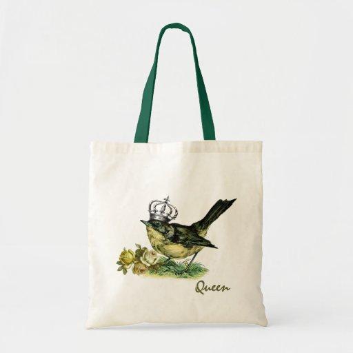 Vintage Queen Bird.  Valentine's Day Gift  Bag