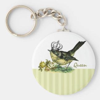 Vintage Queen Bird.  Valentine's Day Gift Keychain