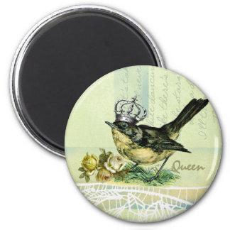 Vintage Queen Bird.  Valentine's Day Gift Magnet