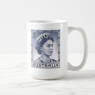 Vintage Queen Elizabeth Australia Australian Basic White Mug