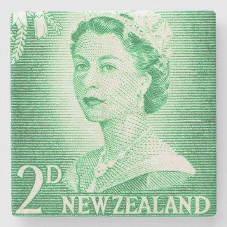 Vintage Queen Elizabeth II New Zealand Stone Coaster