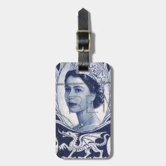 Vintage Queen Elizabeth UK Britain Travel Bag Tags