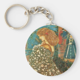 Vintage Queen Guinevere Key Ring