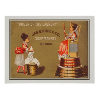 Vintage Queen of the Laundry Soap Ad Poster
