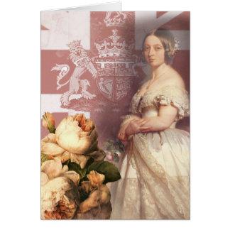 Vintage Queen Victoria Happy Birthday Card