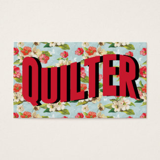 Vintage Quilter Quilting Business Cards