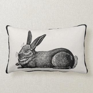 Vintage Rabbit Artisan Pillow - Pick Your Color