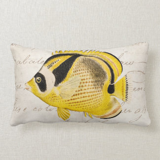 Vintage Raccoon Butterfly Fish - Antique Hawaiian Cushions