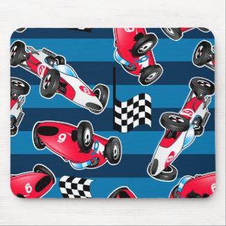 Vintage race cars mouse pad