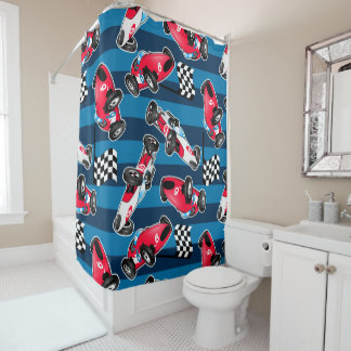 Racing shower curtains for Race car shower curtain