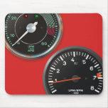 Vintage racing instruments: Classic car gauges Mouse Pads