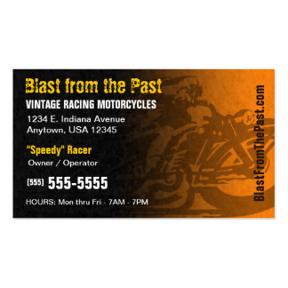 Vintage Racing Motorcycles Business Card