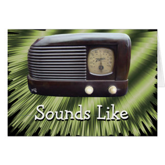 Vintage Radio2-customize any occasion Card