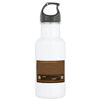 Vintage radio 532 ml water bottle