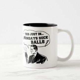 Vintage Radio Announcement: Mondays Suck Mugs