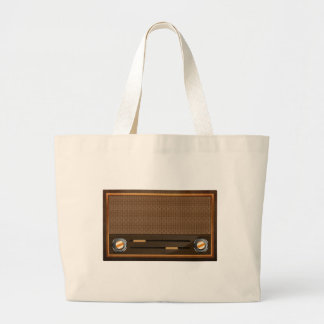 Vintage radio canvas bags