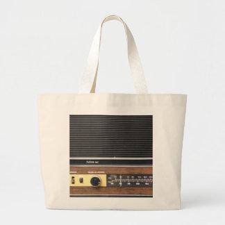 Vintage Radio Tote Bags
