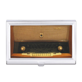 Vintage Radio Business Card Holder