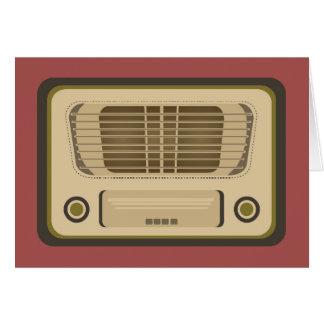 Vintage Radio Card