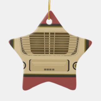 Vintage Radio Ceramic Star Decoration