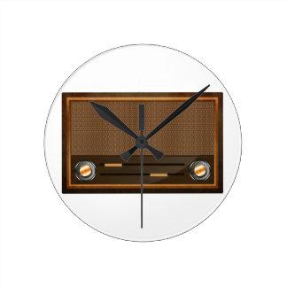 Vintage radio round wallclock