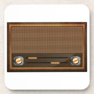 Vintage radio beverage coasters